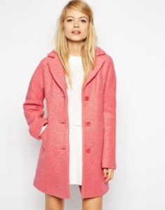 ASOS Coat with Seam Detail in Textured Wool