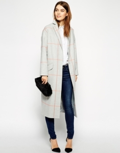 ASOS Duster Coat In Check