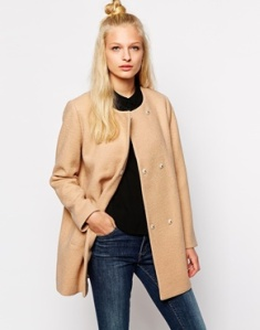 Monki Collarless Coat