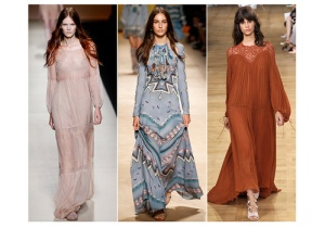 From left to right Alberta Ferretti, Etro, Chloé hippy deluxe