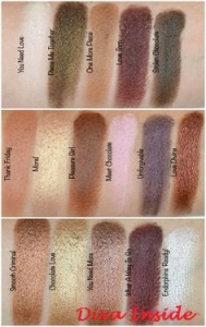 MUR swatches