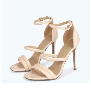 The heeled sandals