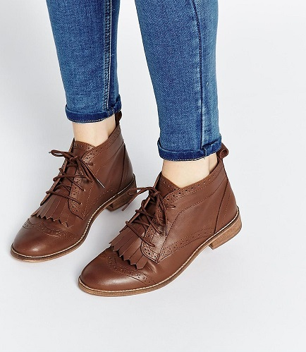 Brogue Boots Asos Asos Abery Brogue Lace up