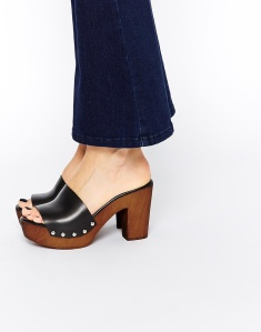 ASOS HOMEBOUND Leather 70s Mules