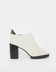 Cheap Monday Layer Peep Toe Ankle Boots