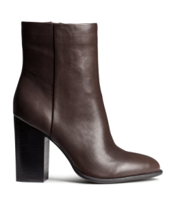 H&M Leather Ankle boots