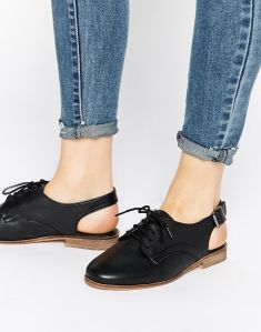 ASOS MARIYA Sling Back Lace up Leather Shoes
