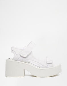 Vagabond Emma White Perforated Heeled Sandals