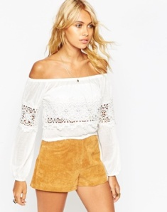 ASOS off Shoulder with Cotton Lace Trim