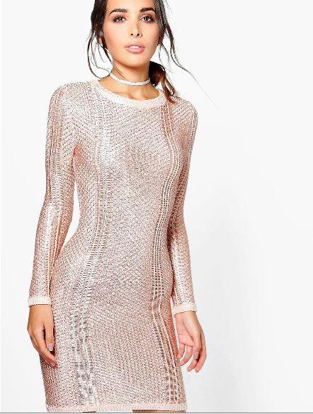 bella-boutique-metallic-knit-midi-dress