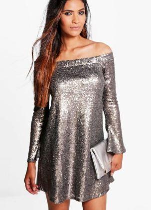 boutique-li-sequin-off-shoulder-shift-dress