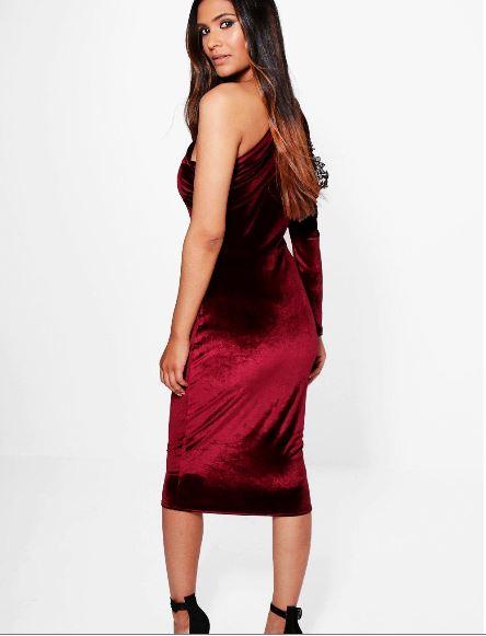 eve-velvet-cold-shoulder-one-sleeve-midi-dress-back