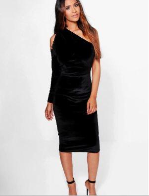 eve-velvet-cold-shoulder-one-sleeve-midi-dress