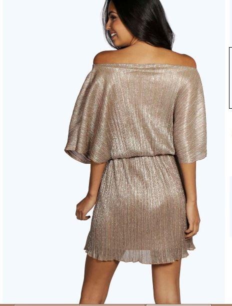karina-pleated-metallic-skater-dress-back