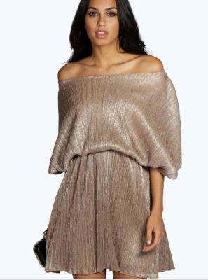 karina-pleated-metallic-skater-dress