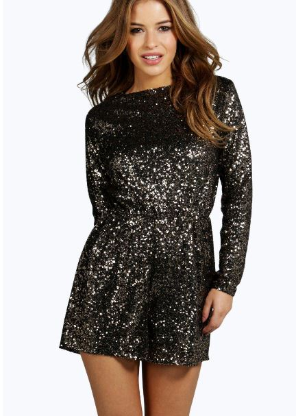 petite-bryony-cowl-back-sequin-playsuit