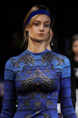 NEW YORK, NY - FEBRUARY 11: A model walks the runway during Charles and Ron at New York Fashion Week Art Hearts Fashion NYFW FW/17 at The Angel Orensanz Foundation on February 11, 2017 in New York City. (Photo by Arun Nevader/Getty Images for Art Hearts Fashion)