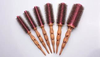 Different styles wooden brushes