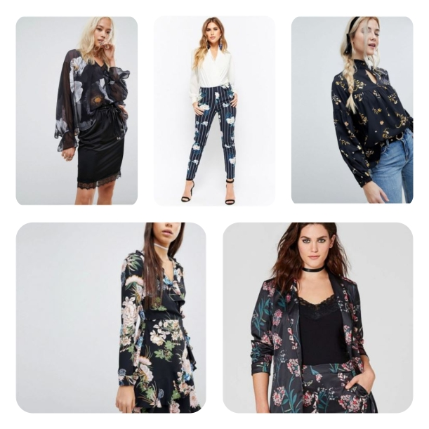 Black backed florals powered by Snap Fashion