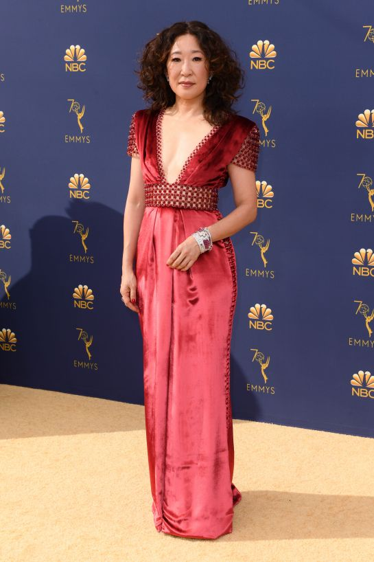 Sandra Oh in Ralph&Russo
