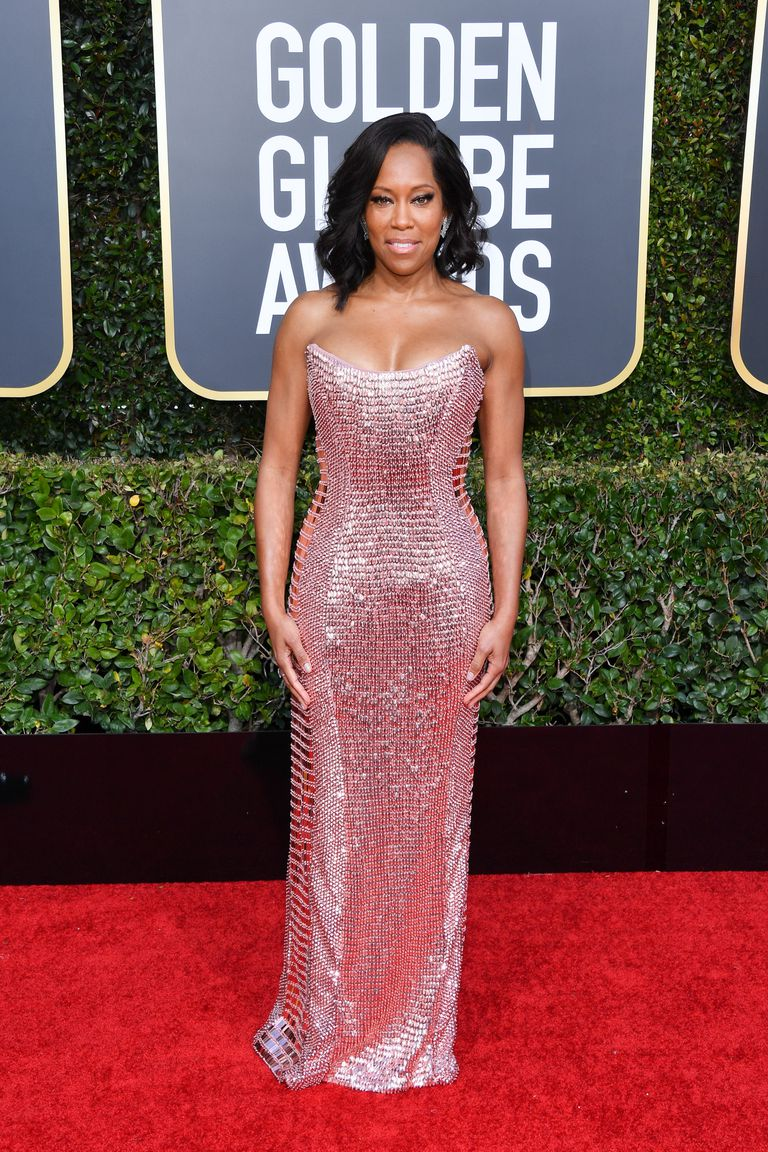 regina king in custom alberta ferretti